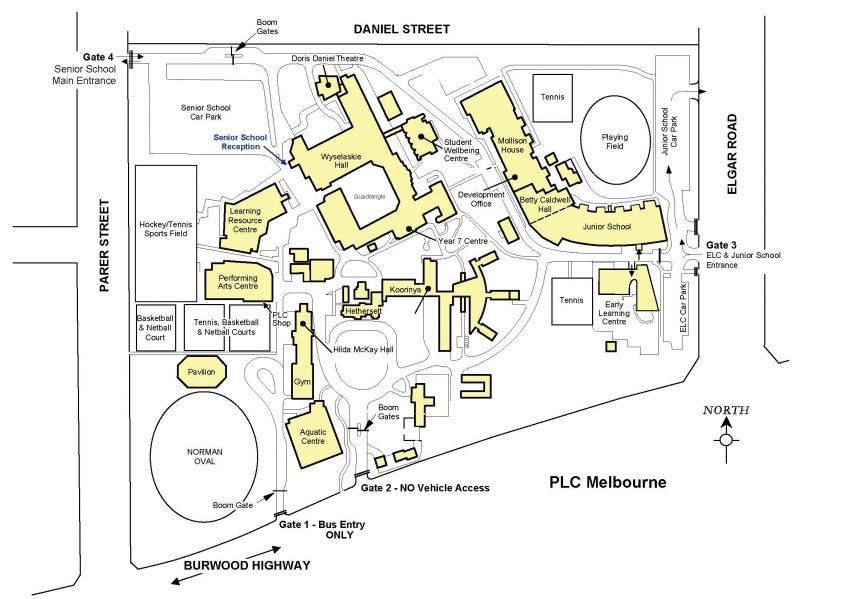 Oc Campus Map.Plc Campus Map Presbyterian Ladies College